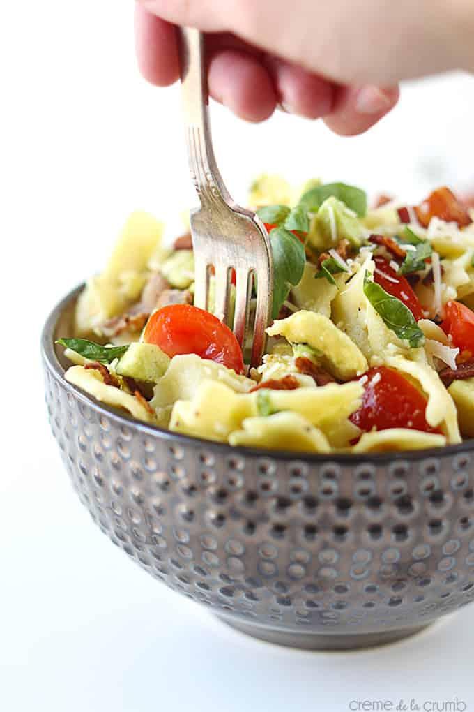 Basil Avocado Pasta