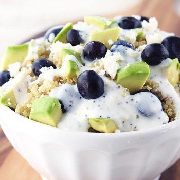 Blueberry Avocado Quinoa Salad