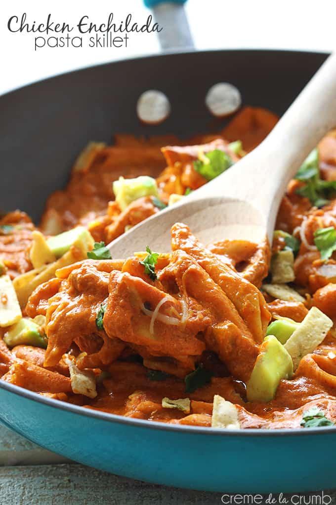 Chicken Enchilada Pasta Skillet