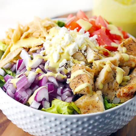 Honey Mustard Chicken Chopped Salad