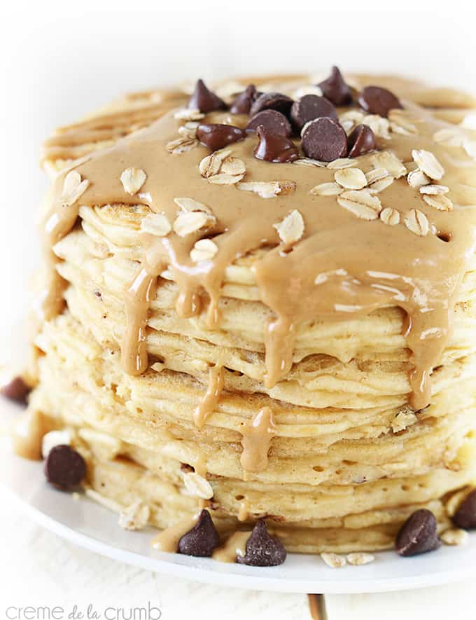 Peanut Butter Oatmeal Chocolate Chip Cookie Pancakes ...