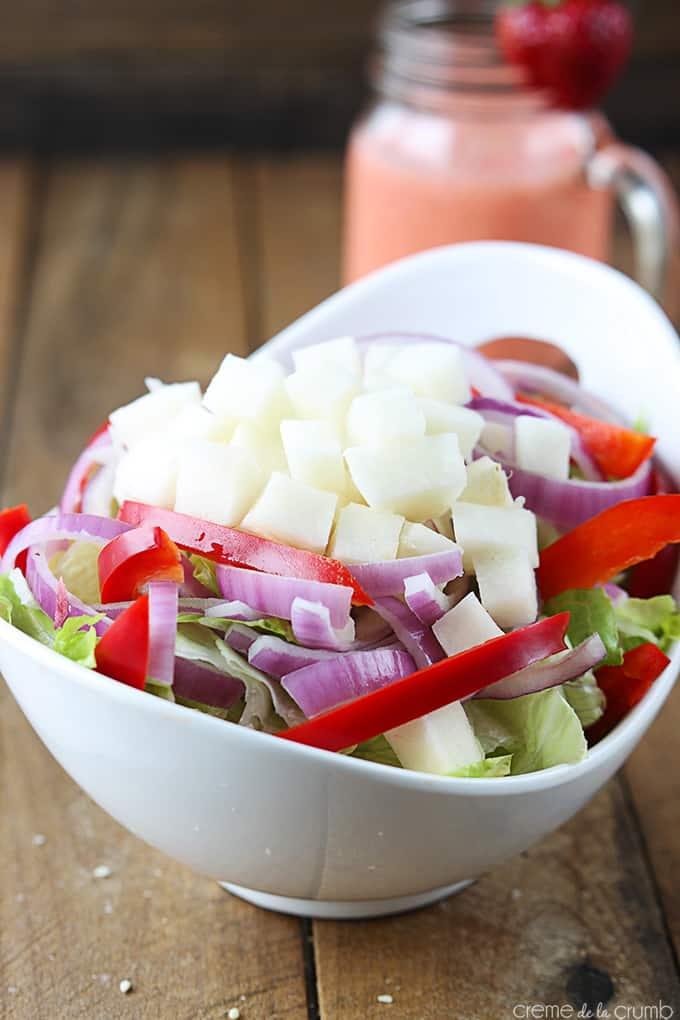 Asian Strawberry Sesame Salad