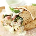Chicken Cordon Bleu Ranch Wraps
