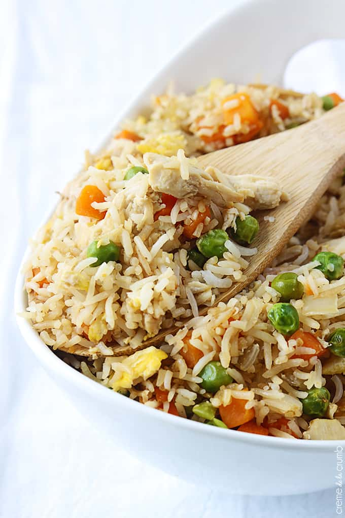 How to make fried rice without chicken broth