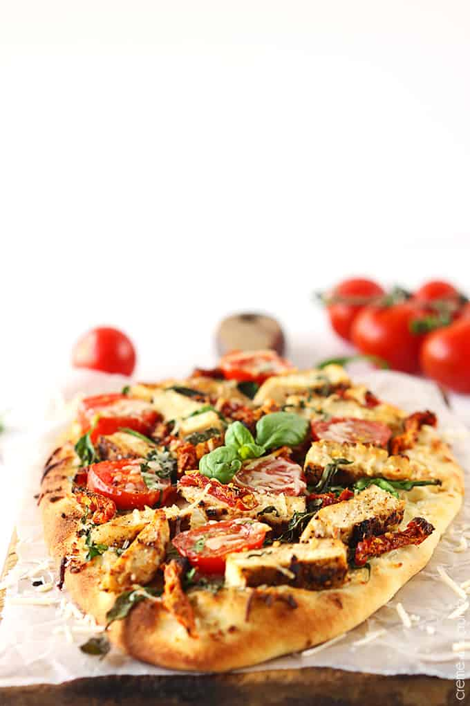 Chicken Florentine Flat Bread Pizza