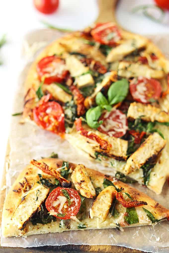 Chicken Florentine Flat Bread Pizza