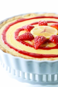 Honey Lemon & Strawberry Tart