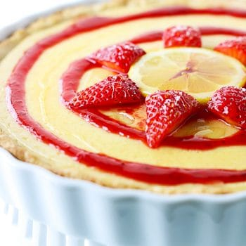 Honey Lemon & Strawberry Tart