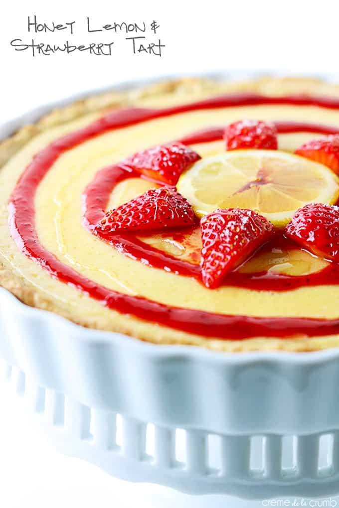 Honey Lemon + Strawberry Tart - Creme De La Crumb