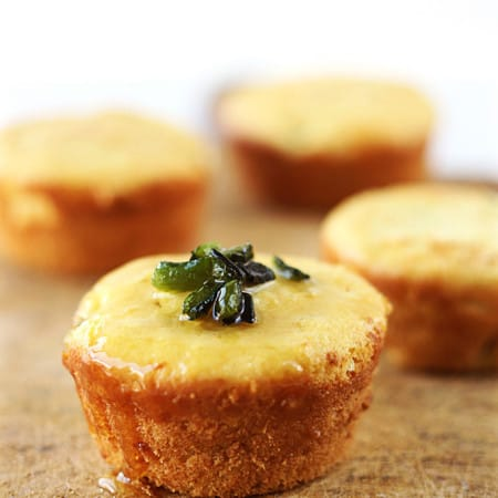 Honey & Roasted Poblano Corn Muffins