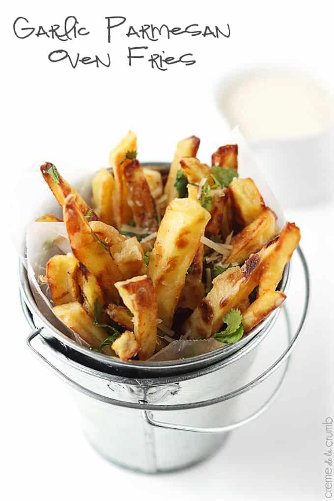 Garlic Parmesan Oven Fries Creme De La Crumb