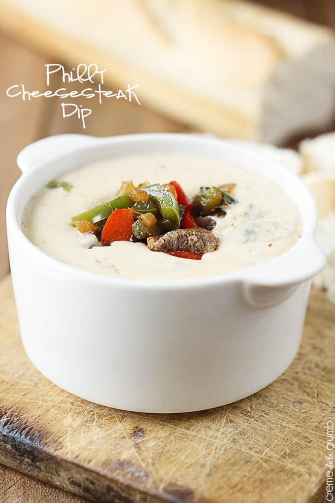 Philly Cheesesteak Dip - Creme De La Crumb