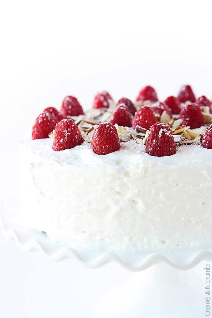 Chilled Raspberry Almond Cake