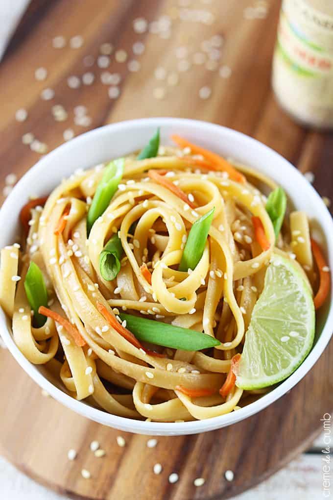 Sesame Peanut Noodles - Creme De La Crumb