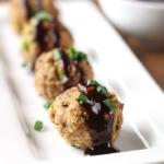 Asian Turkey Quinoa Meatballs