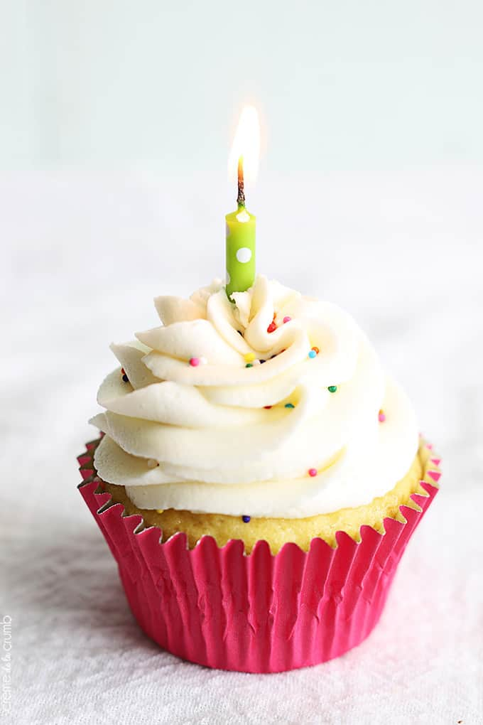 Image Of Birthday Cake With One Candle
