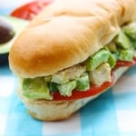 Skinny Chicken Avocado Salad Sandwich