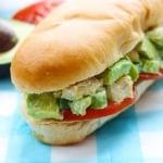 Skinny Chicken Avocado Salad Sandwiches