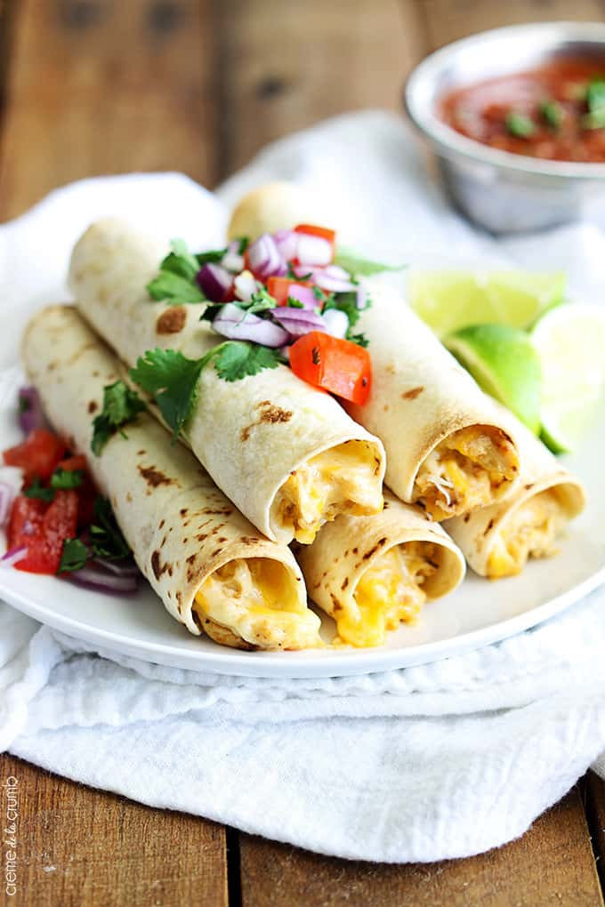 Flavorful creamy chicken made in the slow cooker, then rolled up in ...