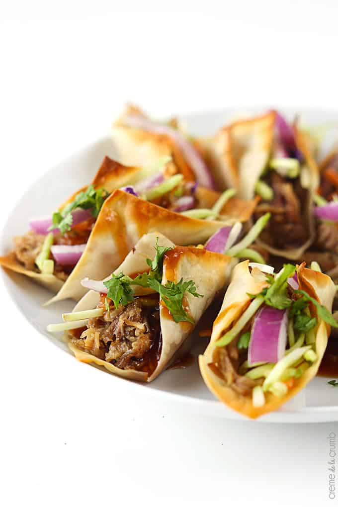 Hawaiian BBQ Pork Wonton Tacos | 10 Scrumptious Leftover Pork Recipes For Extended Thanksgiving Celebration