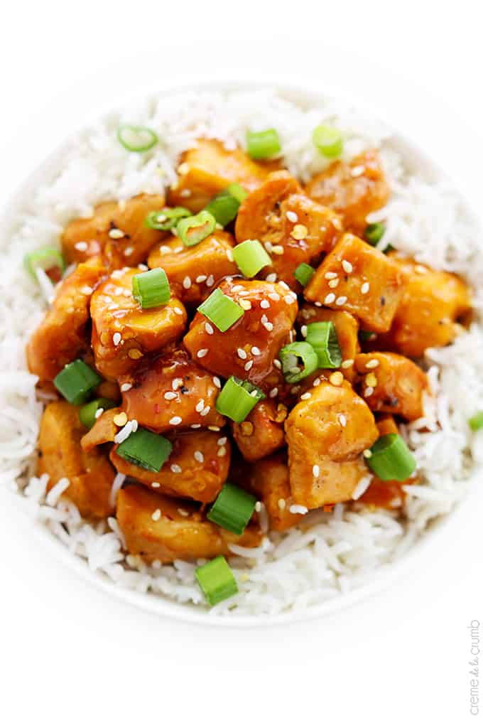 lightened up version of traditional Asian orange chicken – an easy ...