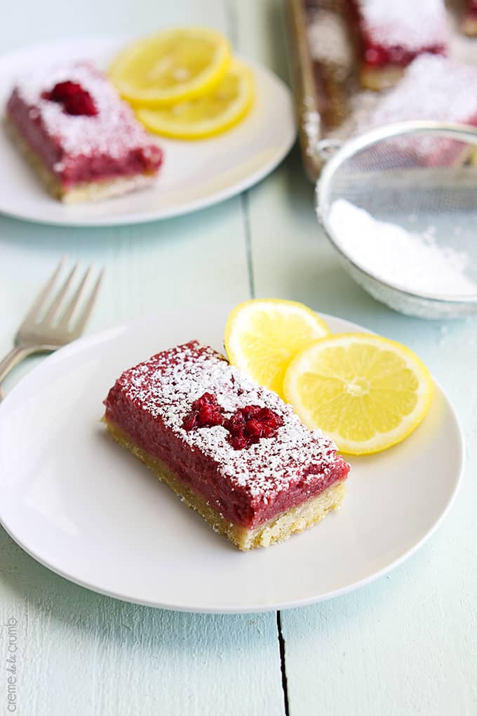 Raspberry Lemonade Bars - Creme De La Crumb