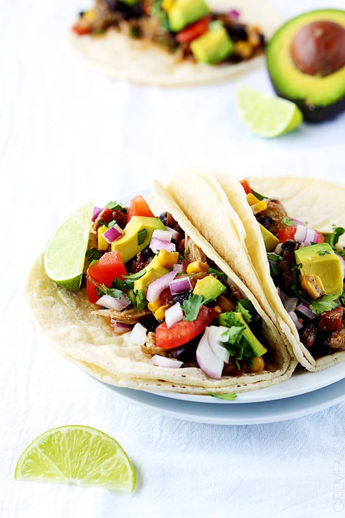 Slow Cooker Santa Fe Chicken Tacos