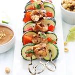 Thai Peanut Chicken Kabobs + Peanut Sauce