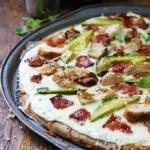 Chicken Alfredo Bacon & Avocado Pizza