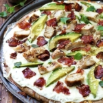 Chicken Alfredo Bacon & Avocado Pizza