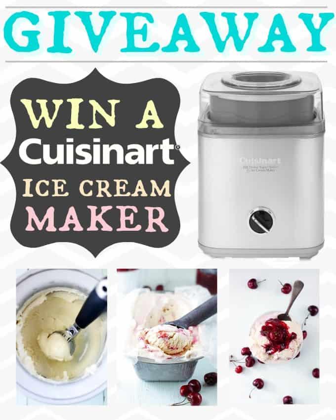 Win a Cuisinart Ice Cream Maker!