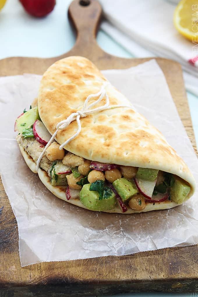Moroccan Chicken Salad Pitas