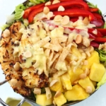 Pina Colada Chicken Salad with Pina Colada Vinaigrette