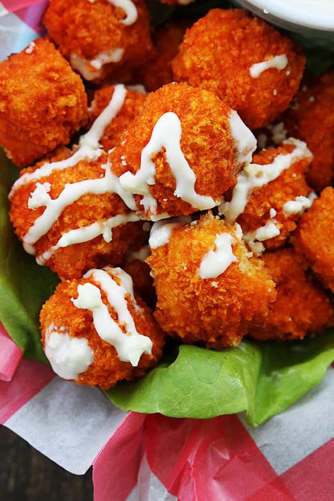 Buffalo Popcorn Chicken