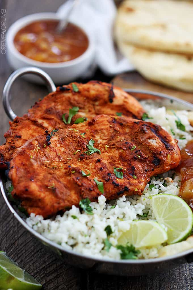 Tandoori chicken is a traditional Indian dish full of bold and spicy ...