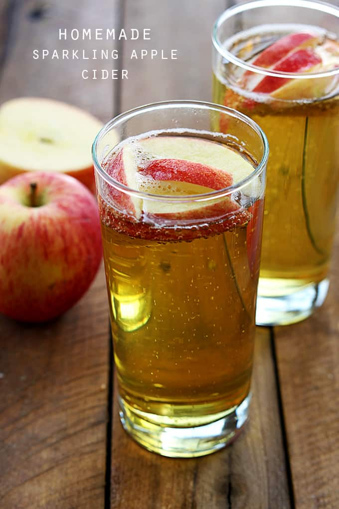Homemade Sparkling Apple Cider + Giveaway | Creme De La Crumb