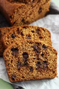 Browned Butter Chocolate Chip Pumpkin Bread