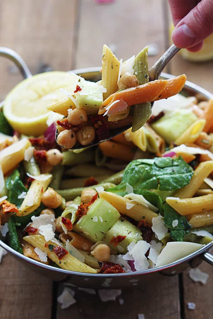 Greek Pasta Salad Recipe — Dishmaps