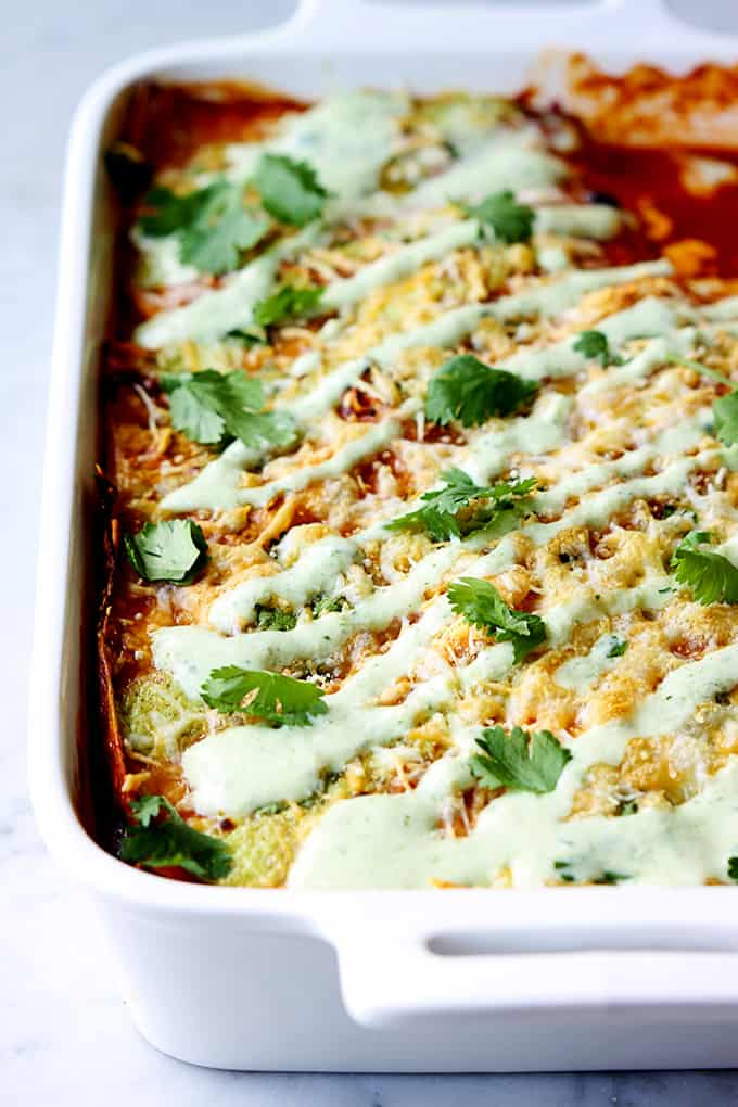 Sweet Pork Enchilada Stacks (aka Enchilada Casserole – Cafe Rio Style)