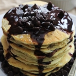 Zucchini Chocolate Chip Pancakes