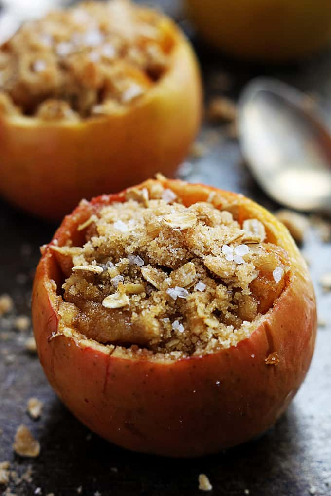 Apple Crisp Stuffed Apples