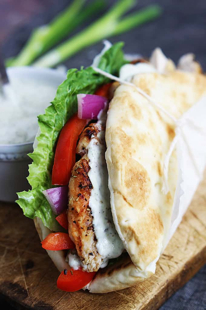 EASY CHICKEN GYROS & TZATZIKI SAUCE - Recipes for Diabetes-Weight Loss ...