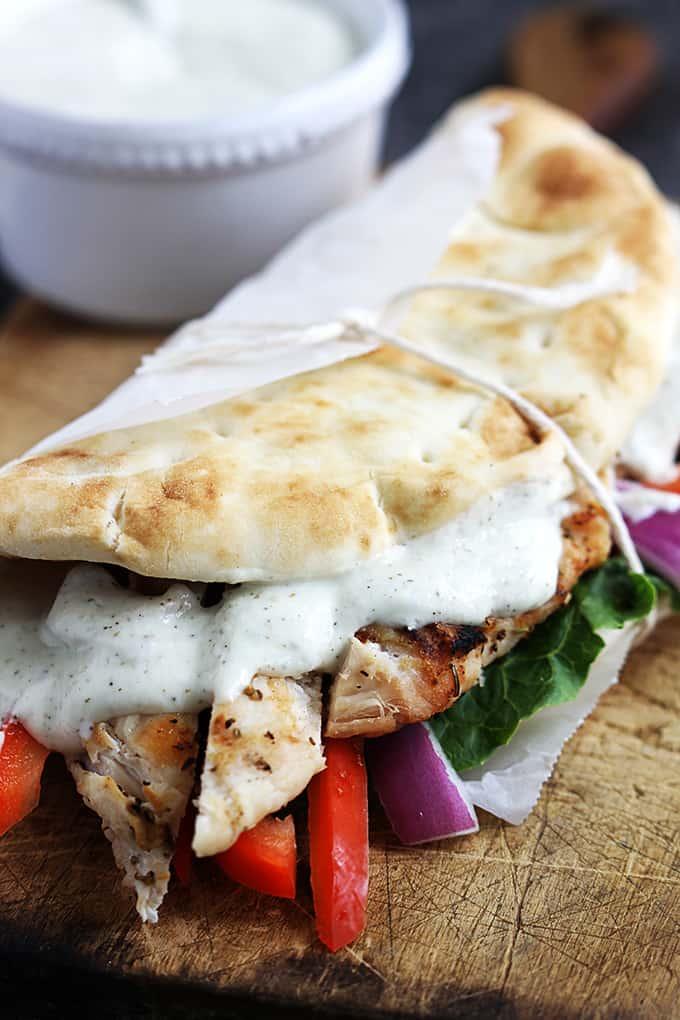 Easy Chicken Gyros & Tzatziki Sauce | Creme De La Crumb