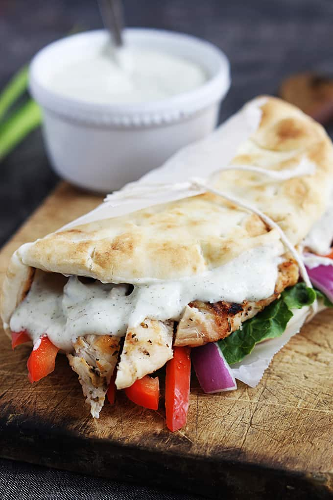 Chicken Kebab With Carrot-Raisin Salad And Greek Yogurt ...