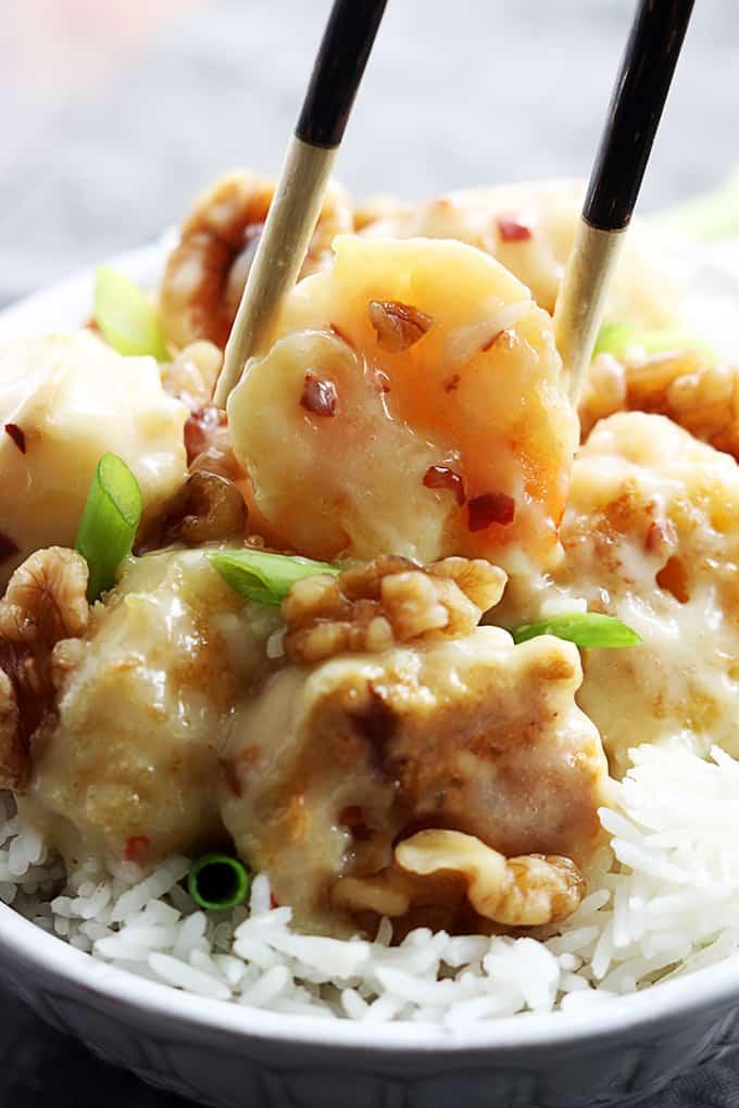 Honey Walnut Shrimp - Creme De La Crumb