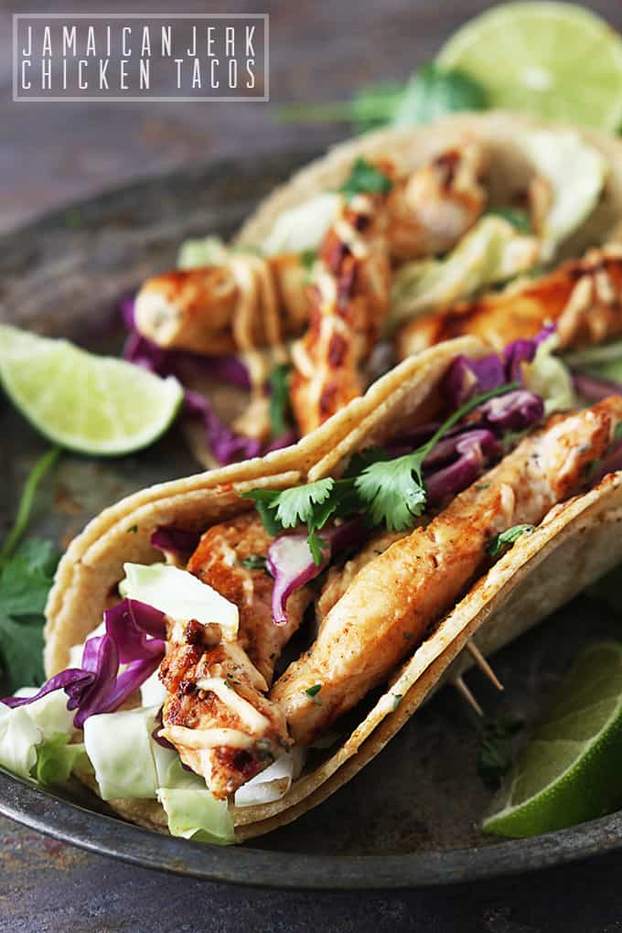 Jamaican Jerk Chicken Tacos