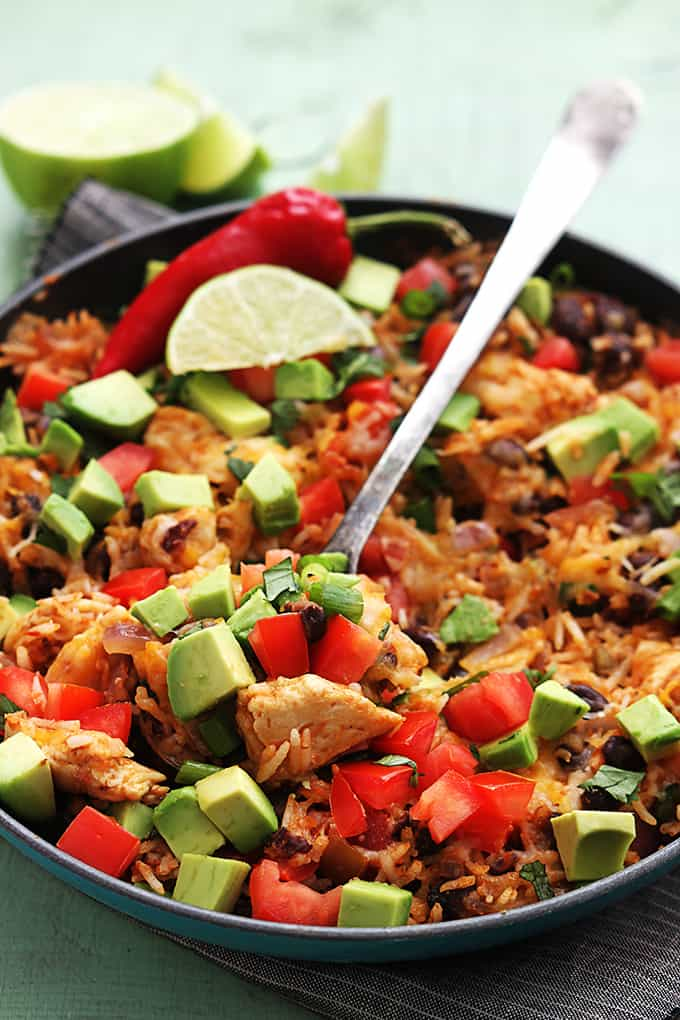 Chicken Taco Rice Skillet