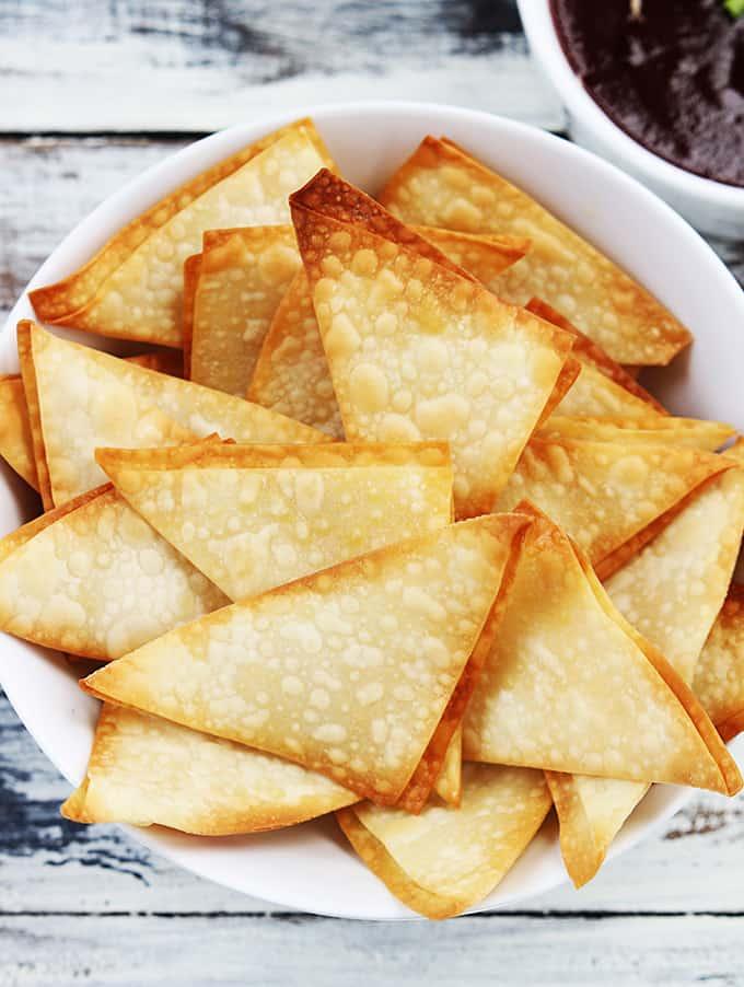 3 Ingredient Cream Cheese Wonton Dip
