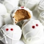 Pumpkin Cheesecake Truffle Mummies (No Bake)