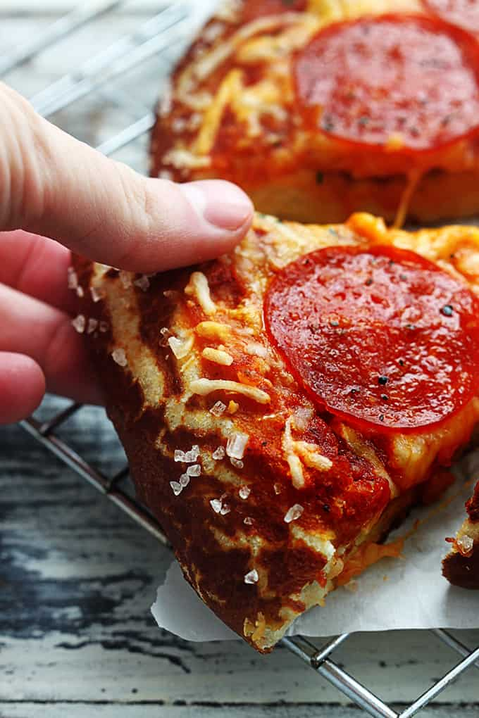 Pretzel Crust Pizza